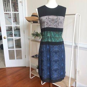 BCBG maxazria snake print a line dress
